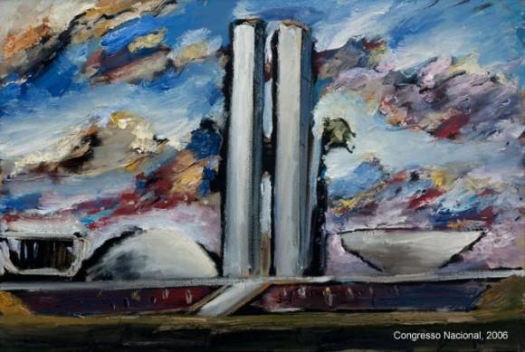 Resultado de imagem para Brasília pintada por Carlos Bracher imagens