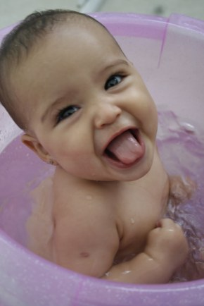 bebê banho